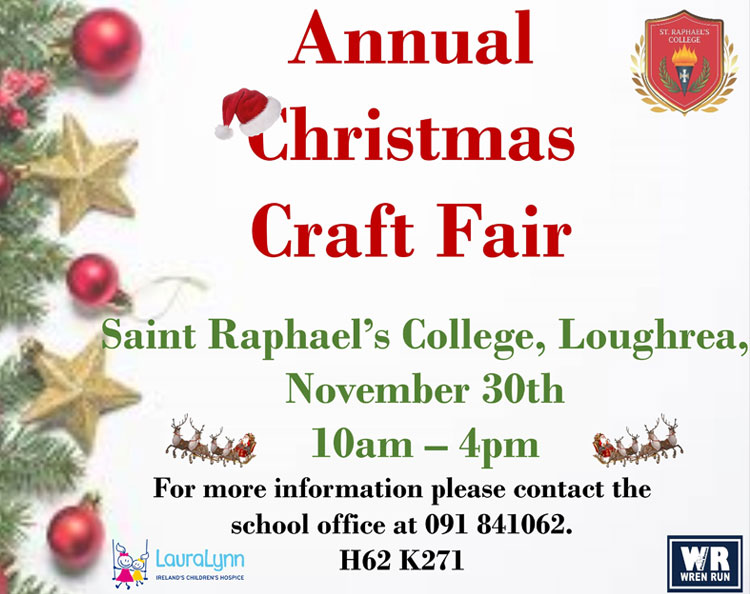 Annual Christmas Fair, November 30th 2019, 10am – 4pm