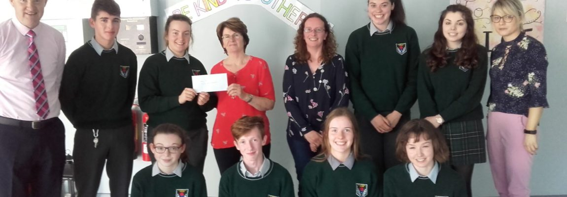 €800 raised by St Raphael's College for Family Carers Ireland