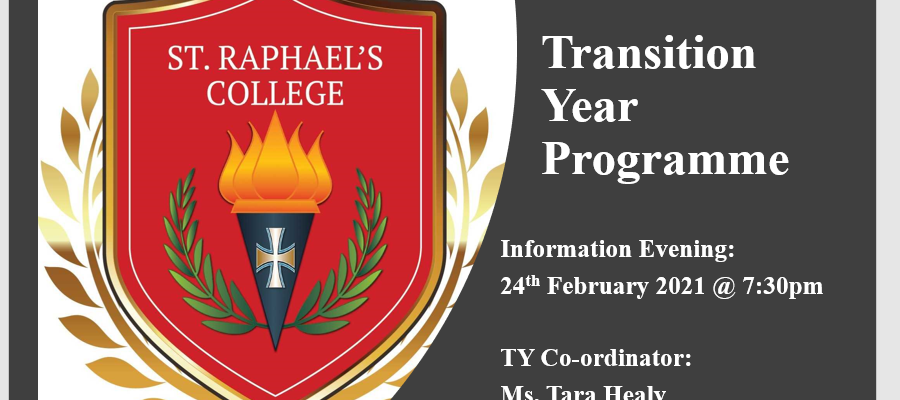 Transition Year Parents Information Evening 2021